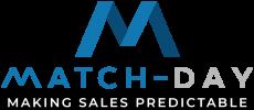 Match-day Logo (making sales predictable) ZWART